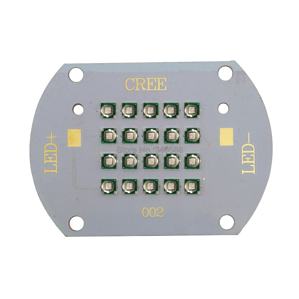 60W LG3535 20-Chip 20LED <font><b>UV</b></font> 365nm High Power Led Emitter <font><b>Lamp</b></font> MultiChip Intergrated LED Light 365NM on Copper <font><b>PCB</b></font> image
