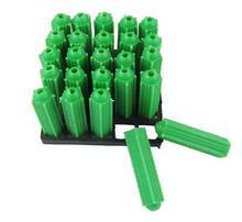100 шт. M8 * 27 Пластиковые расширительные винты, болт, труба, M8, настенная пробка, труба, тянущаяся азотическая Подрезка, анкерные болты, пластиковая пробка