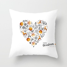Number Printing Sofa Pillow Cartoon Cushion Set Home Decor Cover Throw For Mediterranean Style Case