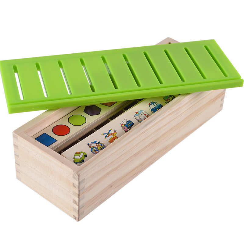 Conoscenza matematica Classificazione di Corrispondenza Cognitivo Bambini Montessori Precoce Educativo Imparare Giocattolo Scatola di Legno Regali per I Bambini
