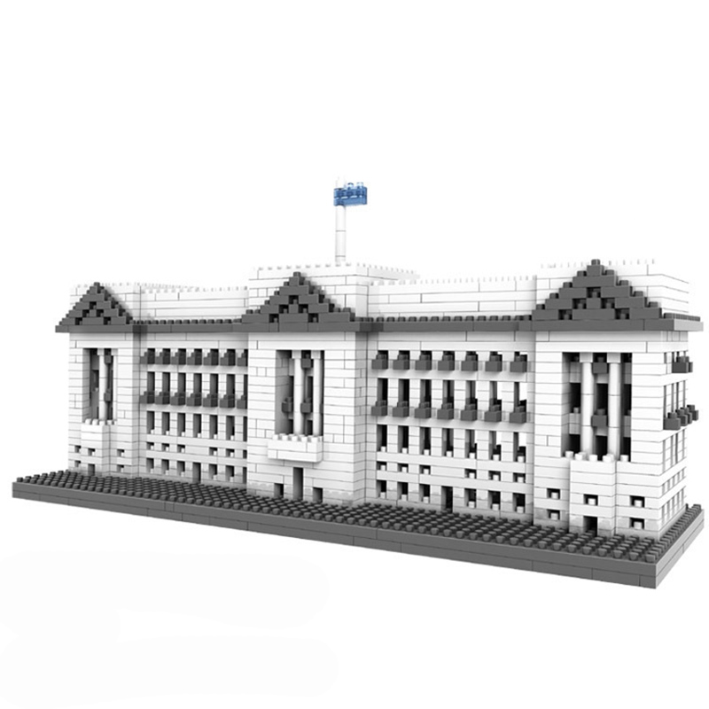 1540 pcs. DIY 3D World Famous Architecture Model Educational Mini Building Brick Toy Buckingham Palace Funny Assembled Blocks loz architecture famous architecture building block toys diamond blocks diy building mini micro blocks tower house brick street