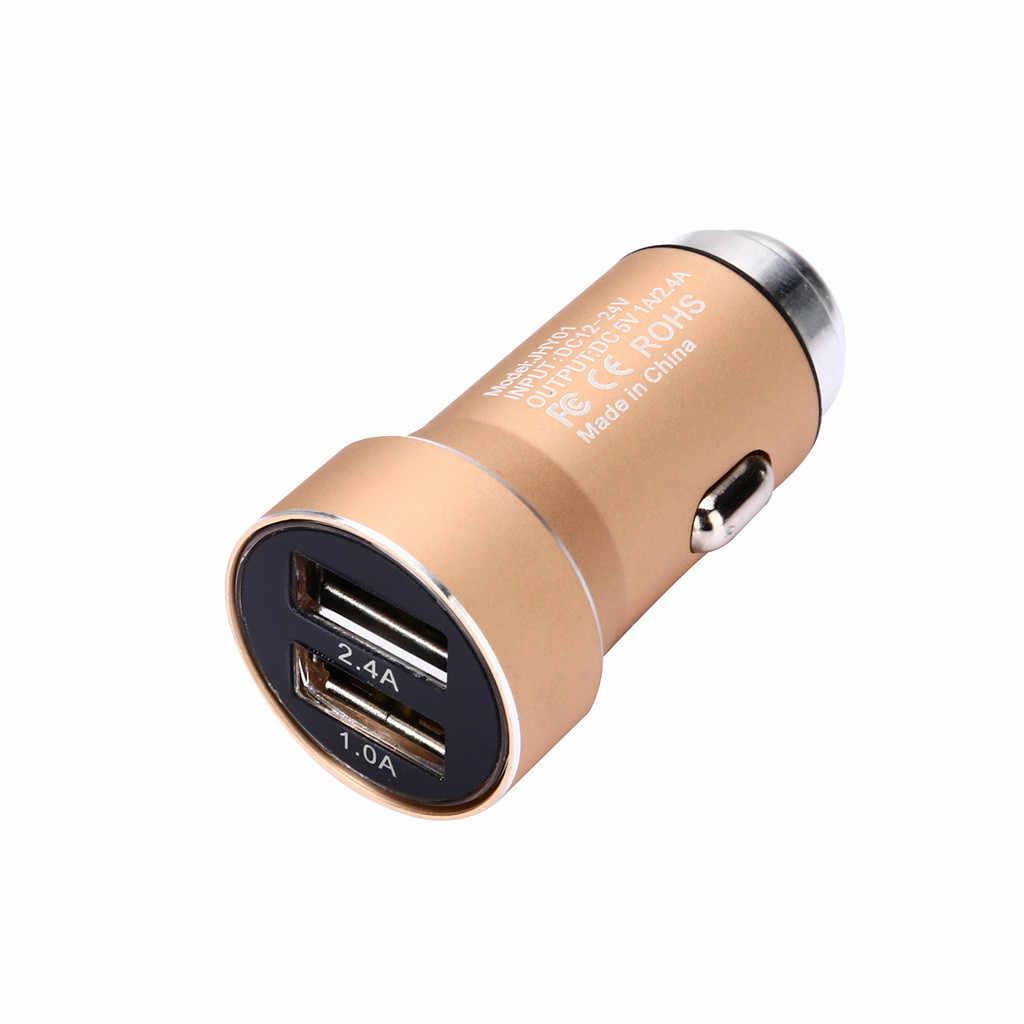 Mobil Charger 5 V/2.4A/1A Cepat Charge Dual USB Port Adaptor Tegangan untuk Ponsel untuk BMW E87 e83 E82 E70 E65 E61 E60 E53 E46 Samsumg