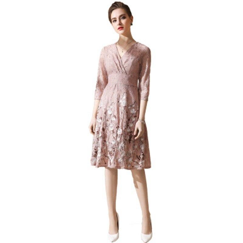 360308a0af8 V picture Femmes Robes cou En Robe Color Vêtements Nouveau Dentelle Sexy  Nouveauté Gratuite 2018 Parti ...