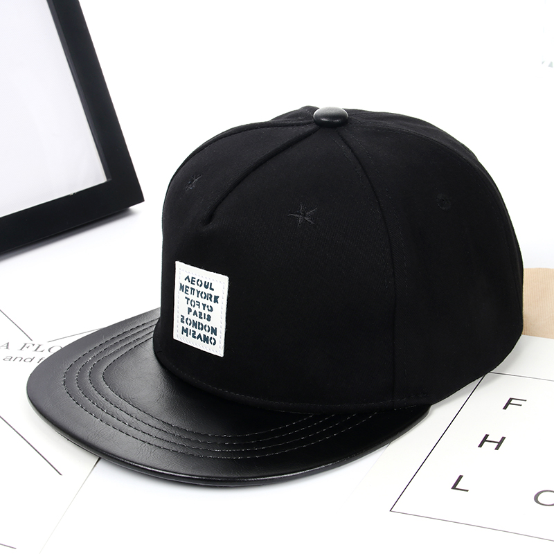 WORSICO Black Street Letter Baseball Cap Men Cotton Casual Unisex Adjustable Hip Hop Hats for Women Skateboard Snapback Sun Caps