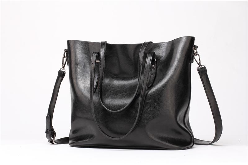 DIDA BEAR Brand Women Leather Handbags Lady Large Tote Bag Female Pu Shoulder Bags Bolsas Femininas Sac A Main Brown Black Red 7