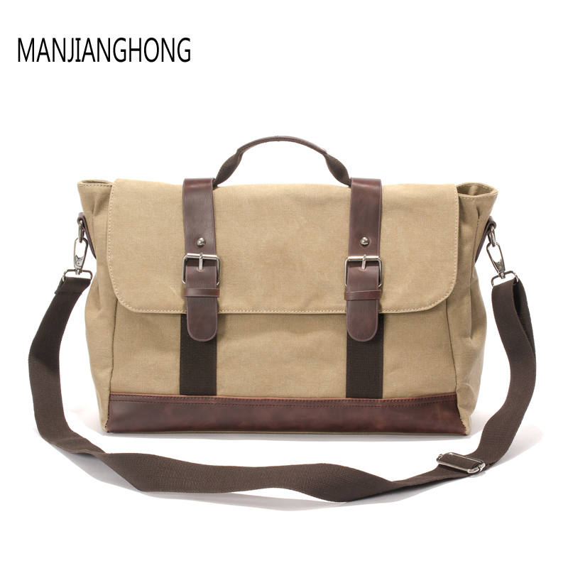 New fashion Vintage Men's Messenger Bags Canvas Shoulder Bag Men Business Tote Crossbody Bag male Travel Handbag vintage crossbody bag dark khaki canvas shoulder bags men messenger bag man casual handbag tote business briefcase for computer