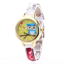 2020 New Arrival watch Woman Creative Leather Band Quartz Round Wrist Watch Children Girls Cute Animal Pattern Watches Clock(China)