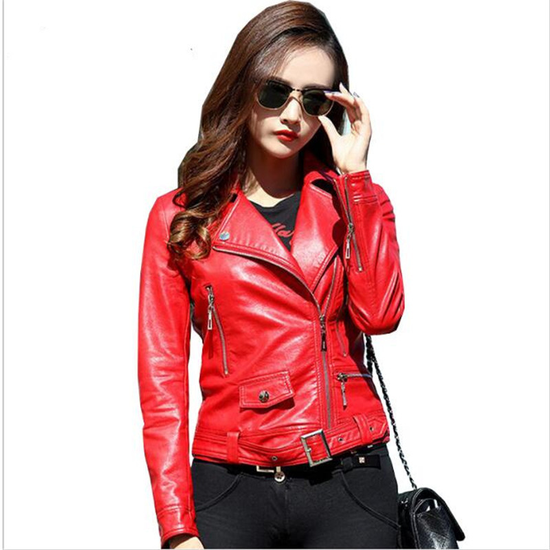 Popular Red Leather Jacket-Buy Cheap Red Leather Jacket lots from ...