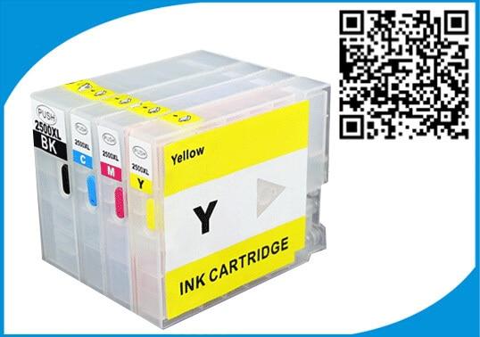 1set PGI-2500 Refillable Ink Cartridge for Canon PGI2500 PGI 2500 for Canon MAXIFY MB4050 MB5050 MB5350  Printer for Europe