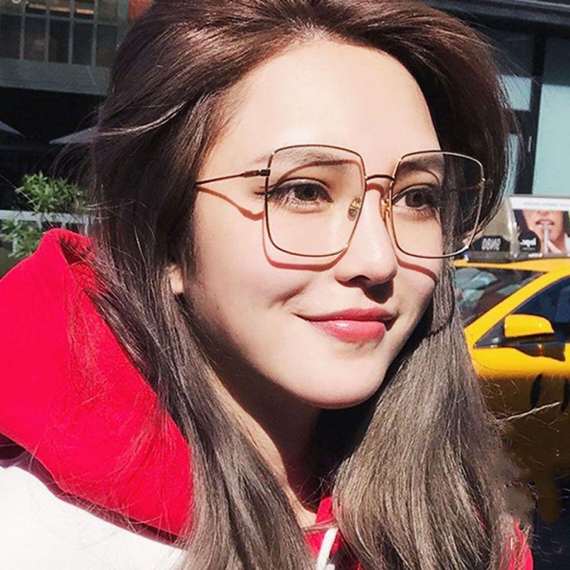 e895a17ca9 New Women Retro Eyeglasses Metal Gold Eyewear Men Spectacle Frames Optical  Glasses Frame Clear Glasses Transparent
