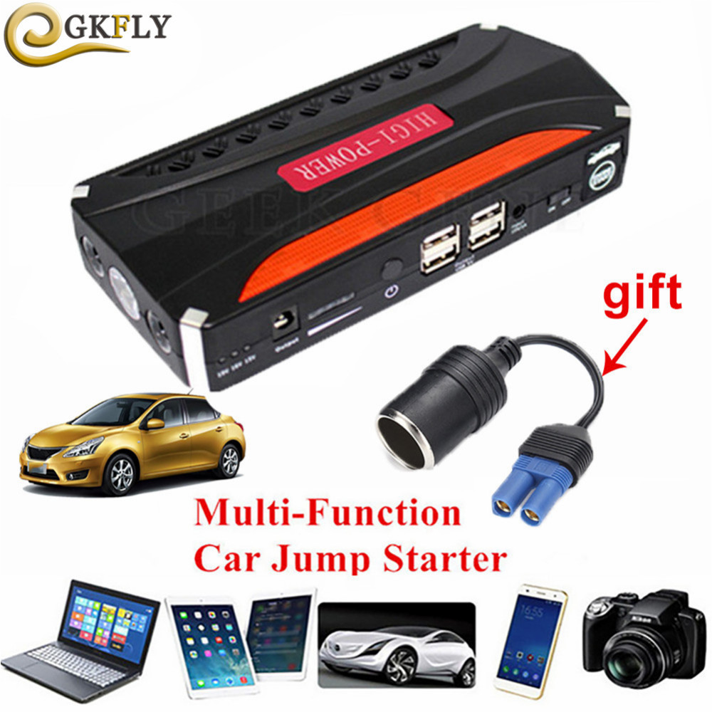 Mini Emergency Car Jump Starter 12V Portable Power Bank Car Battery Charger For Booster Starting Device Diesel petrol Auto LED(China)