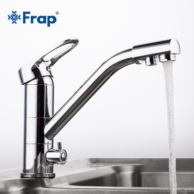 Frap New Arrival Kitchen Faucet Deck Mounted Mixer Tap 360 Degree rotation with Water Purification Features