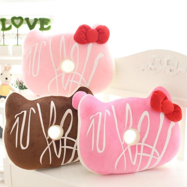 Galletas con chispas de chocolate creativo cojín, KT gato cojín, cojín donut hole, regalos de cumpleaños, regalos de navidad