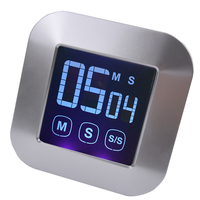Free Shipping Portable Electronic Kitchen Timer Large LCD Touch Type Cooking Timer