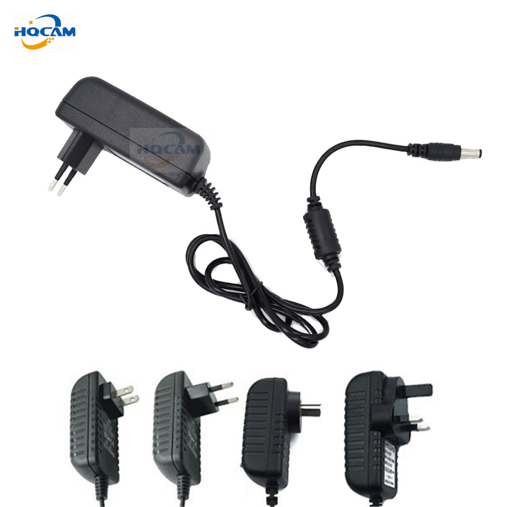 HQCAM Qualified AC 110-240V To DC 12V 2A Power Supply Adapter For CCTV,EU/US/UK/AU Plug