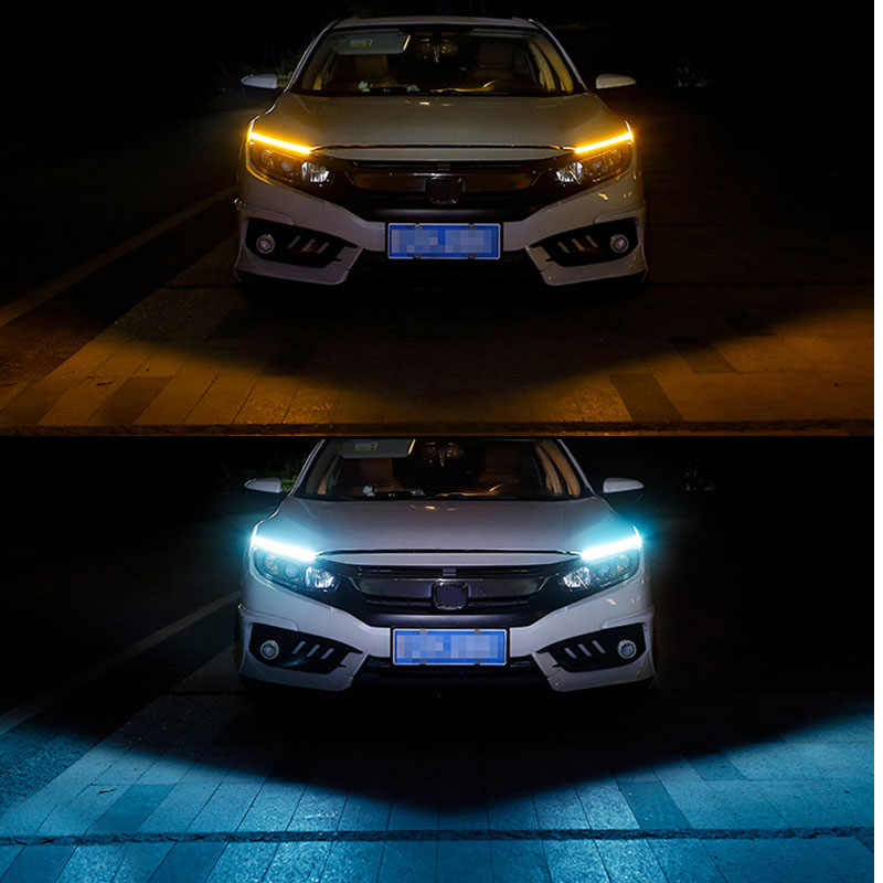 Car Styling 1 Pcs Ultra Bright LED Daytime Running lights 17cm Waterproof Auto Car DRL COB Driving Fog lamp for bmw kia audi