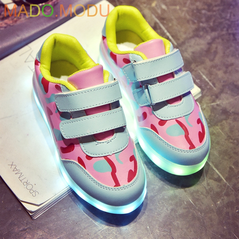 USB Basket Led child Shoes With Light Up 2018 New Autumn Kids Luminous Sneakers Childrens Glowing Shoe Girls Sneaker for Boys