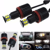 No Bulb Out Warning Message 120W CREE Chip H8 LED Angel Eyes Halo Ring Marker Light Bulbs White 6K For BMW E60 E90 E92 E70 X5 X6