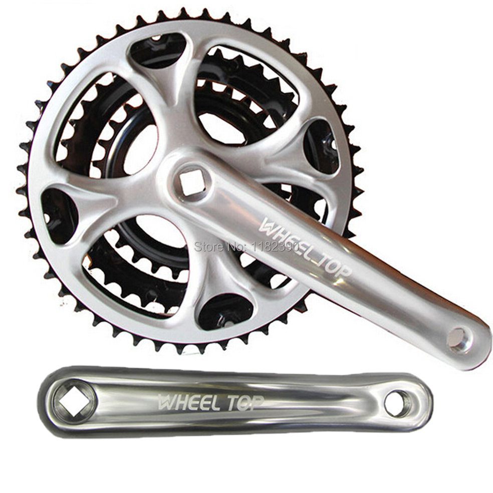 new bicycle crankset crank Chainwheel  Aluminum alloy 7/8 Speed 48-38-28T 170mm mtb bike Crankset Free shipping west biking bike chain wheel 39 53t bicycle crank 170 175mm fit speed 9 mtb road bike cycling bicycle crank