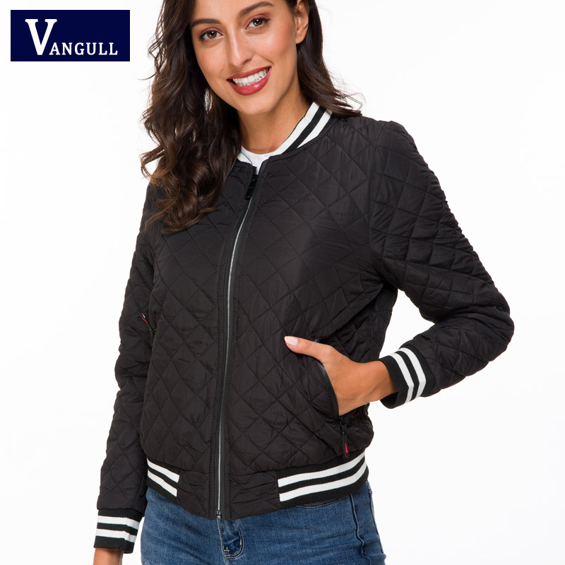 Vangull Jacket women 2019 New Spring Autumn Winter velvet lamb Coat Woman basic Parkas Outerwear Down
