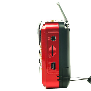 Image 2 - Mini Tragbare Radio Handheld Digital FM USB TF MP3 Player Lautsprecher Wiederaufladbare
