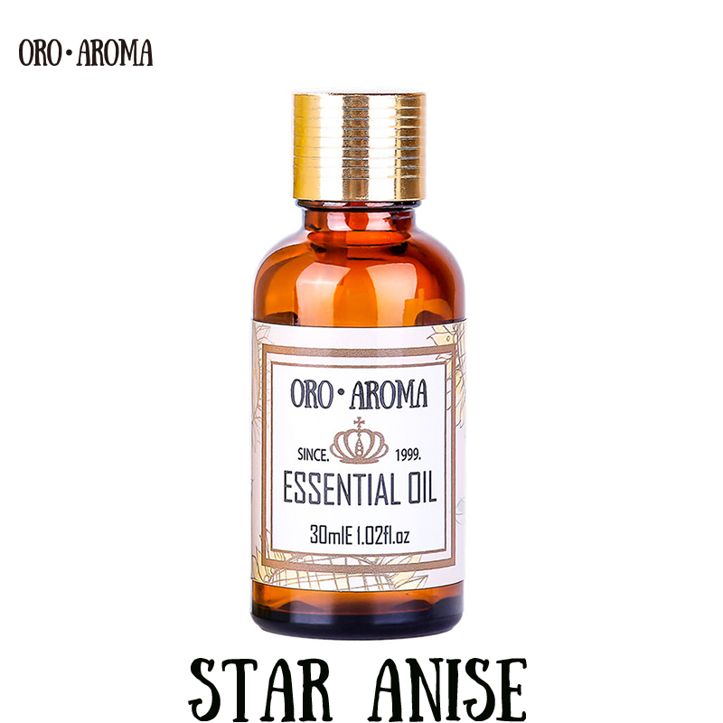 Famous brand oroaroma natural aromatherapy Star anise essential oil Stomach flatulence Cure sore throat Star anise oilFamous brand oroaroma natural aromatherapy Star anise essential oil Stomach flatulence Cure sore throat Star anise oil