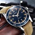 Corgeut Luxe Merk Seepferdchen Militaire Mechanische Horloge Mannen Automatische Sport Ontwerp Klok Leather Mechanische Horloges
