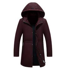 2017 Cotton New Style High Quality Jacket Men Winter Fashion Warm Regular Parkas And Coats Hooded Warm down jacket Large size 4X