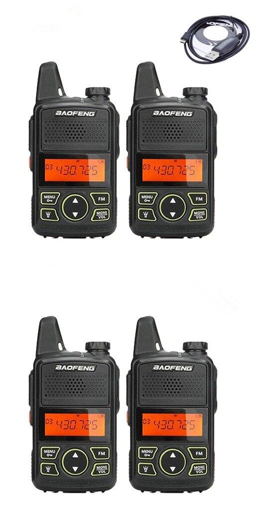 4 pack baofeng BF-T1 mini talkie walkie UHF 400-470 mhz ham radio station ptt poche FM Portable pofung bf t1 deux way radio