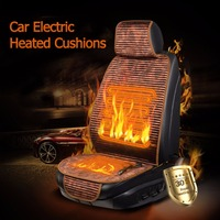12V Winter Heated Car Seat Cushion Cover Seat Heater Warmer Winter Household Cushion Cardriver Heated Seat Cushion Thermal Cover