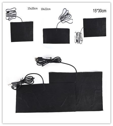 3 Size USB Heated Jacket Coat Vest Accessories Carbon Fiber Heated Pads Warm Back Neck Fast-Heating 10X22cm 15X20cm  15X30cm