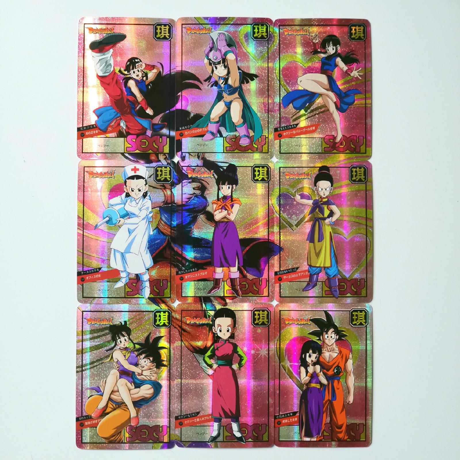 9pcs/set Chichi Super Dragon Ball Z Heroes Battle Card Ultra Instinct Goku Vegeta Game Collection Cards