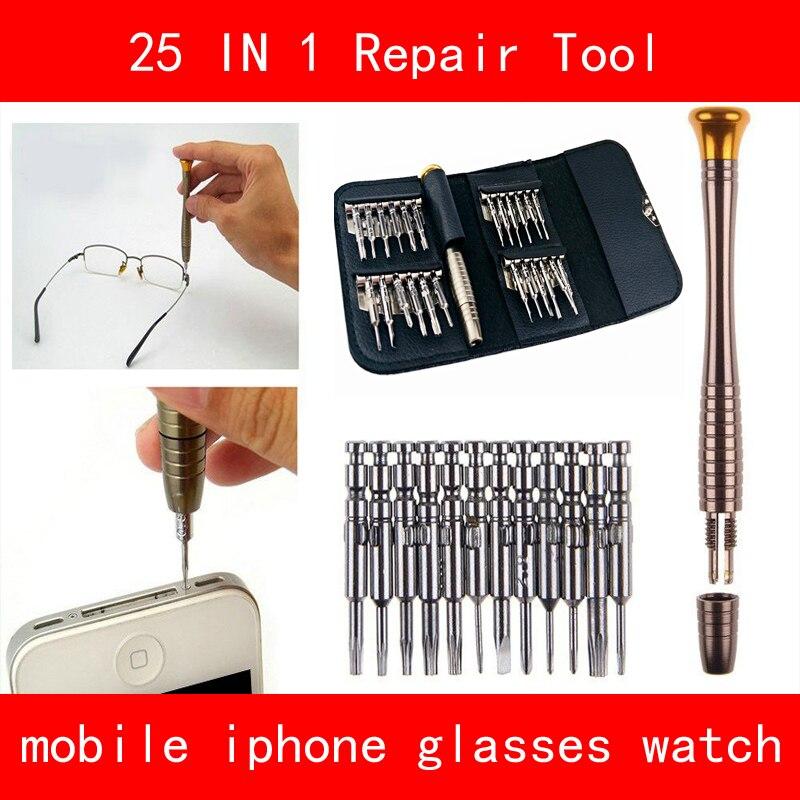 Jeu de tournevis 25 en 1 Torx Tournevis Outil De Réparation Kit ensembles Pour Mobile Téléphone Portable Tablet PC Lunettes Montre Universel outils