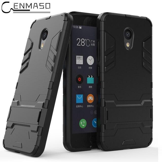 MEIZU M5C Case Armor Shockproof Stand Silicone Soft Back Cover MEIZU M6 Note Case Meizu M5S A5 M3S M5 M6T MX5 MX6 15 Plus Case