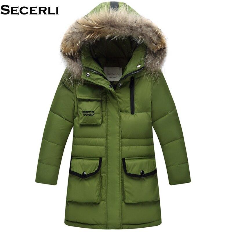2018 Winter Boys Down Jacket Coat 3-12Y Kids Girls Boys Winter Jacket Parkas Long Outerwear Coats Teenage Kids Down Jacket цены онлайн