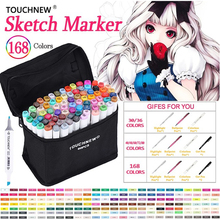 TOUCHNEW Art Marker 36/48/72/168 Colors Artist Dual Headed Marker Set For Animation Manga Design School Drawing Sketch Marker цена в Москве и Питере