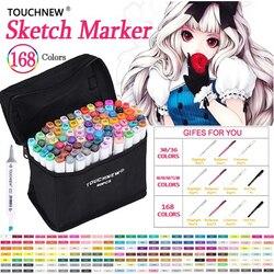 TOUCHNEW Art marqueur 30 40 60 80 168 couleurs artiste double tête marqueur ensemble pour Animation Manga Design école dessin croquis marqueur