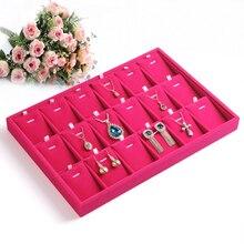 Comercio al por mayor Caja de Exhibición de La Joyería vitrinas plato placa wek-jin anillos Show Case caja de exhibición del collar