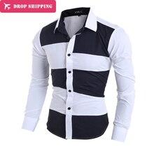 Baumwolle In Voller Camisas Hombre Vestir Männer Kleidung Neue Art Von Unregelmäßigen Farbe Design männer Slim Langärmeliges Hemd, gx171