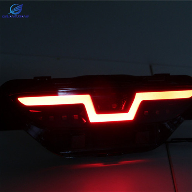 ChuangXiang 3 Multi-function Car LED Rear Fog Light Brake light Bumper Light  Turn Signal Light Reflector For Toyota C-HR 2017