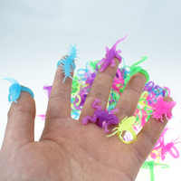 Animal Design Cool Halloween Dance Party Accessories Toys Luminous Insects Ring Glow In Dark Toy for Children