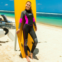 цены на Sbart New 2019 3MM Wetsuit Women Thick Full Body Diving Suit Long Sleeve One Piece Swimsuits Keep Warming Neoprene в интернет-магазинах