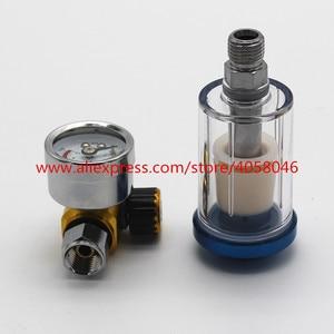 Image 2 - Pistola de pulverización para arañazos, manómetro de regulador de aire y trampa de agua en línea, herramienta de filtro, PISTOLA DE PULVERIZACIÓN, tabla reguladora de presión dedicada, 1 Uds.