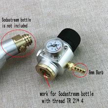 Sodastream CO2 Gas Mini Điều CO2 Bộ Củ Sạc 0 90 PSI Corny Cornelius Keg Sạc Dành Cho Châu Âu Soda Dòng bia Kegerator