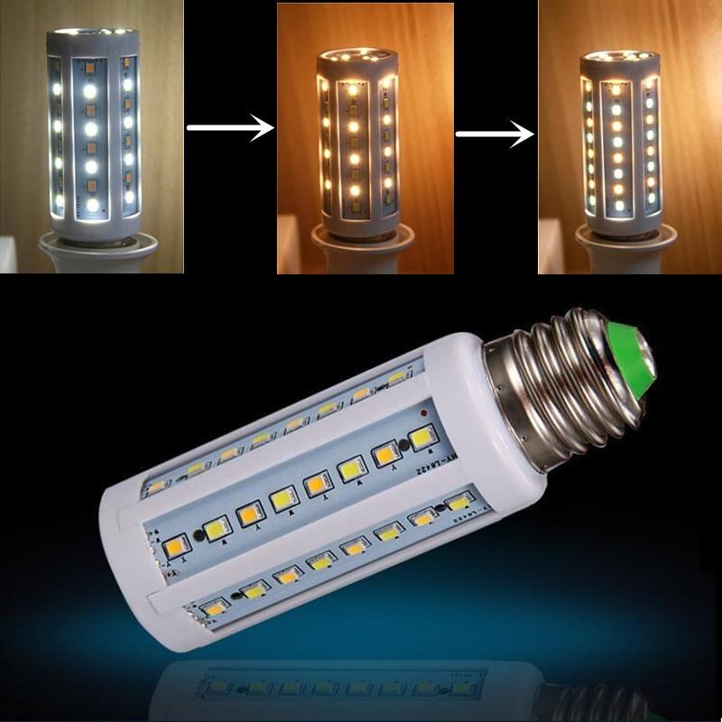 Réglable blanc/blanc chaud température de couleur LED ampoule e27 E14 led lampe AC110V 220 V 230 V 240 V E14 E27 10 W LED maïs ampoule