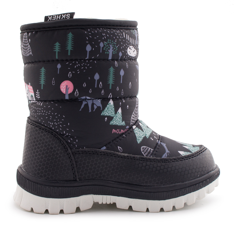 SKHEK-Winter-Children-Round-Toe-Snow-Boots-For-Girls-Boys-Flat-With-Ankle-Kids-Rubber-Boots-Unisex-Cotton-Fabric-Shoes-4
