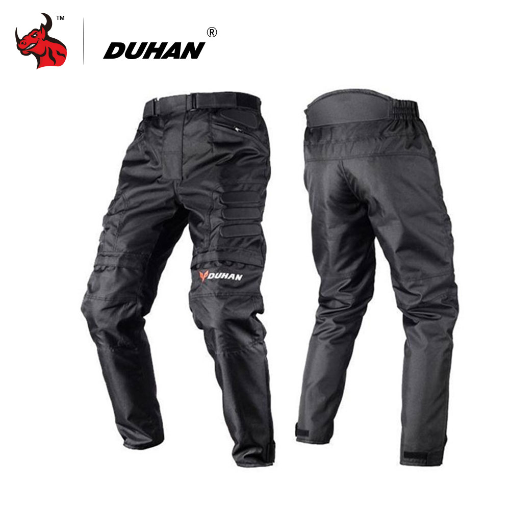 DUHAN Motorcycle Pant Motocross Pants Black Moto Pants Motocross Off-Road Racing Sports Knee Protective Motorcycle Trousers 2015 new duhan dk 018 moto pants motorcycle jeans off road motorcycle riding pant drop resistance external protective gear