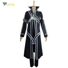 Меч искусство онлайн костюм Кирито для косплея на заказ любой размер с перчатками