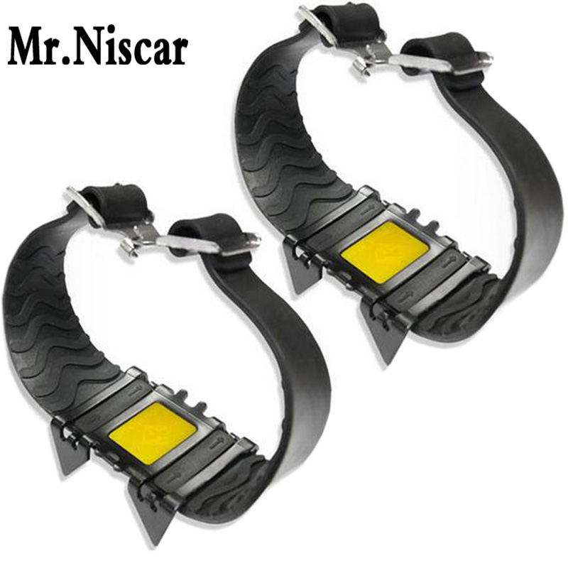 Mr.Niscar Outdoor Snow Ice Gripper Anti Slip Shoe Covers Elderly and Children Crampons Winter Cleats Ice Gripper Hiking Supplies