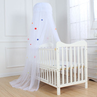 Palace Style Round Dome Baby Mosquito Net Princess Jacquard Mesh Crib Netting Children Room Decoration Baby Bed Tent Curtains